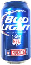 Bud Light Kickoff 2013 NFL beer alum can 12 oz Limtd Ed 663845 empty bottom open