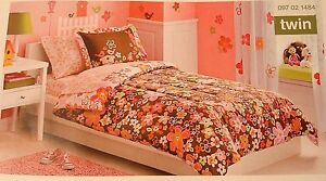 New Circo Blossom Pink Flowers Twin Bedding Set Comforter Sheet set 5 pieces