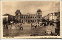 BRUXELLES Belgien ~1910/20 Place Rogier Gare Bahnhof AK Carte Postale