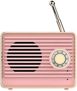 Vintage Radio Bluetooth Wireless Speaker Portable Built-in Mic USB 9h Playtime