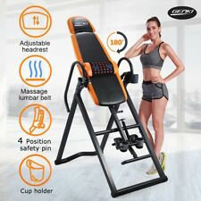 Genki 155713 Gravity Inversion Table with PVC Mat and Heavy Duty Steel Frame