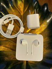 Genuine Apple EarPods with Lightning Plug, Charge Cord, Cube