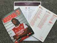 Arsenal v Leicester City PREMIER LEAGUE 24/10/2020 Programme with Teamsheet!!!!