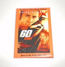 Gone In 60 Seconds Promotional Pin