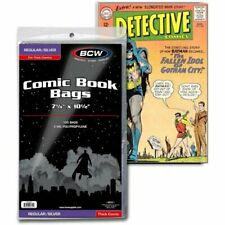 BCW Crystal Clear Comic Book Bags Regular & Silver Comics Thick (100's) New