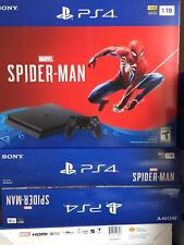 Brand New Sony PS4 PlayStation 4 1TB  Spider-Man Game Console Bundle - Black