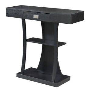 Convenience Concepts Newport Harri Console Table, Black - 111960BL