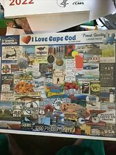 White Mountain I Love Cape Cod- 1000 Piece Jigsaw Puzzle 24x30 New Wrapped