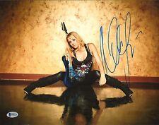 Nita Strauss Signé 11x14 Photo Bas Beckett COA Alice Cooper Guitare Autographe