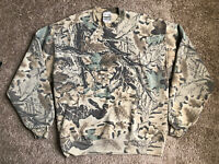 Vtg 90s Jerzees Outdoors Camouflage Realtree Advantage Crewneck Sweatshirt L