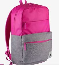 NIKE JORDAN PIVOT BACKPACK BOOKBAG LAPTOP STORAGE FUSCHIA / GREY 9B0013-A6F NEW