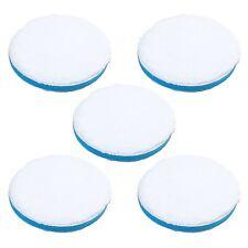 """6"""" Microfiber Polishing Pad Hook and Loop Blue Soft Density Foam - Pack of 5"""