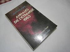 Annales de l'étrange 1980 Jean-Yves Casgha 1981 préface de Jacques Pradel