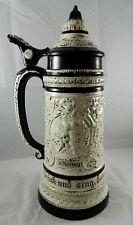 Vintage Atlantic Mold Decorative Ceramic Lidded Beer Stein Cherubs Angels #A54