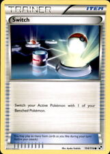 4x Pokemon BLACK AND WHITE SWITCH 104/114 UNCOMMON TRAINER CARD NM