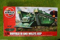 LTV 4 Buffalo Amphibian & Willys Jeep1/76  Airfix 2302