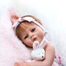 "Full Body silicone reborn baby girl doll Handmade 20"" réaliste jouet cadeau Vinyle"