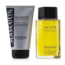 NEW Bourjois Masculin Coffret: Acier EDT Spray 100ml+Hair & Body Shower Gel 2pcs