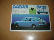 FEUILLET Datsun Cherry 1000 4 Portes de 1973