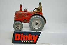 Dinky 301 FIELD MARSHALL Farm Tractor with FRONT STEERING AXLE & DIECAST DRIVER