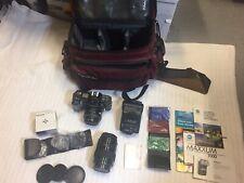 Minolta Maxxum 7000 35mm Slr Film Camera with Lenses, Bag, and Accessories