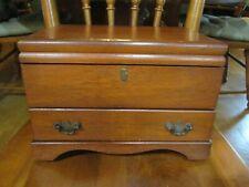 Vintage Gorham Pacific Sterling Silver Flatware Wood 2-Tier Storage Case Chest