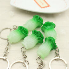 New Cute Healthy Vegetables Green Chinese Cabbage Shaped Key Chain Key Ring