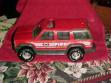 "Vintage Nylint  Chevy Tahoe Pressed Steel Fire Chief Vehicle 11"" good shape"