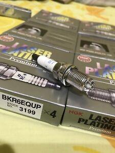 8PCS-SET OF 8 Laser Platinum  Spark Plug-NGK 3199 -BKR6EQUP
