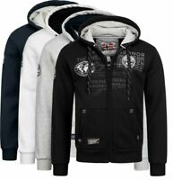Geographical Norway Herren Sweat Jacke FVSB sweatshirt Hoodie übergangs Winter