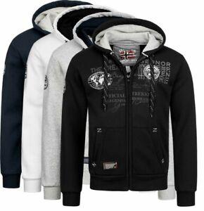 Geographical Norway Men's Sweatshirt Jacket Fvsb Hoodie between Season Winter