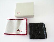 $2395 BRIONI Gray Crocodile Alligator Leather Wallet ID Card Holder w/ Box