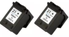 2 x Rem HP21 C9531AA black ink cartridges for HP F2100 F2275 F4185 PSC1410