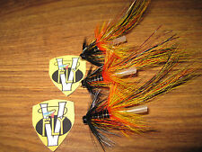 "3 Vainer's Ultimate Wille Gunn Pot Belly Pig Shrimp 3/4"" Tube V Flies & Hooks"
