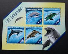 Niger Dolphins 2014 Ocean Marine Life (miniature sheet) MNH *odd shape