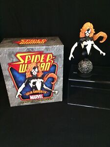 "MARVEL Mini Bust 2007 Bowen Designs SPIDER-WOMAN Julia Carpenter 6.5"" LE /2000"