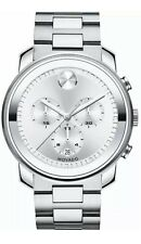 Movado Men's  Analog Display Swiss Quartz Silver Watch (3600276). Flawless.