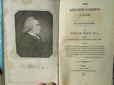 William MASON : THE ENGLISH GARDEN. A POEM, 1813.