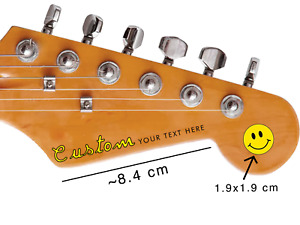 TWO PREMIUM CUSTOM Guitar Headstock Waterslide Decals for Stratocaster or Bass