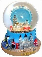 London Eye Snow Globe, 9 cm, Tower Bridge, Big Ben, Buckingham, Westminster, NEW