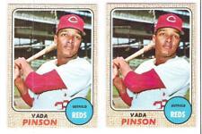 (2) 1968 TOPPS VADA PINSON