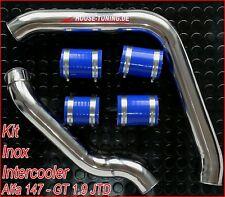 ALFA ROMEO GT 156 147 1.9 TUBI MANICOTTI INTERCOOLER INOX hose pipe tube T13