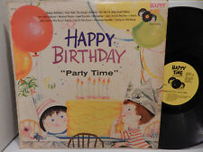 Happy Birthday Party Time Happy Time Records Musical Chairs Childrens Record LP