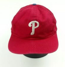 new concept 753ad 5ee2a ... usa vtg. red phillies snapback hat very worn 0fc6c 54f20