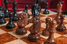 "The Challenger Series Luxury Chess Pieces - 4.4"" King - Genuine Ebony & Anjan"