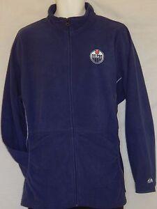 NEW Edmonton Oilers Hockey Zip up Jacket NHL Fleece Top Coat Womens Size M L XXL