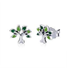 Celtic Tree of Life Earrings Real 925 Sterling Silver Fashion Jewellery Ear Stud
