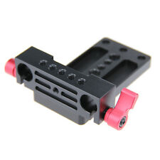 Tripod Mount Plate 15mm Railblock Rod Clamp For DSLR Camera Rig Support