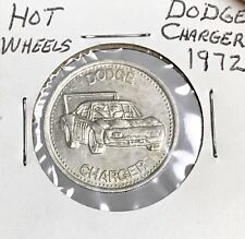 Hot Wheels Redline 1972 Dodge Charger Shell Coin Game Token Rare In Sleeve