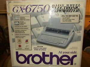 New In Open Box Brother Gx-6750 Correctronic Electronic Daisy Wheel Typewriter